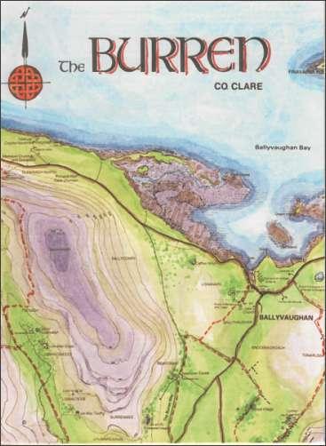 Map Of The Burren Ireland.Tir Eolas Burren Surrounds Books Maps